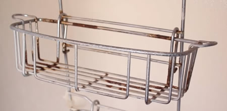 How to clean a rusty shower caddy