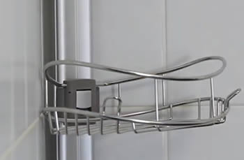 how to clean metal shower caddy